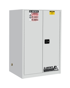 Sure-Grip® EX Flammable Safety Cabinet, 90 Gallon, S/C Doors, White