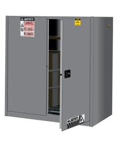 Sure-Grip® EX Vertical 2-30 Gallon Drum Safety Cabinet w/Rollers, S/C Doors, Yellow