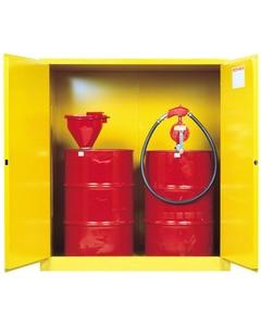 Sure-Grip® EX Vertical 2-55 Gallon Drum Safety Cabinet, M/C Doors, Yellow