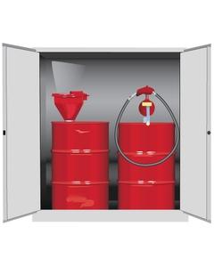Sure-Grip® EX Vertical 2-55 Gallon Drum Safety Cabinet, M/C Doors, White