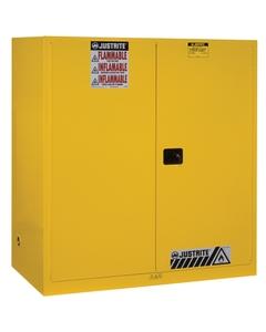 Sure-Grip® EX Vertical 2-55 Gallon Drum Safety Cabinet, S/C Doors, Yellow (Intl)