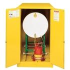 Sure-Grip® EX Horizontal Drum Safety Cabinet w/Track, M/C Doors, Yellow