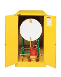 Sure-Grip® EX Horizontal Drum Safety Cabinet w/Track, S/C Doors, Yellow