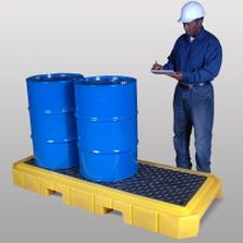 3-Drum Low-Profile Ultra-Spill Pallet P3 Plus - UltraTech 9626/9627