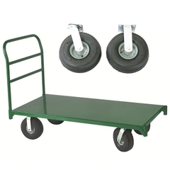 "30"" x 60"" Steel Platform Truck, 10"" x 3.5"" Pneumatic Casters, 2,500 lb. Capacity"