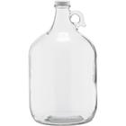1 Gallon (128 oz.) Clear Glass Jug, 38mm 38-405, w/White Metal Cap