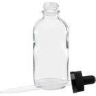 4 oz. Clear Boston Round Glass Child Resistant Dropper Bottle, 22mm 22-400