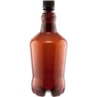 32 oz. Amber Plastic Beer Growler w/ Black Cap, 28mm PCO-1810