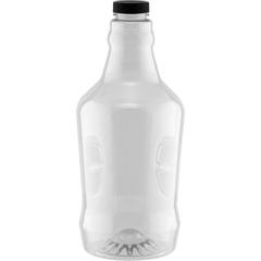 64 oz. Clear Plastic Beer Growler w/ Black Cap, 38mm M38-400