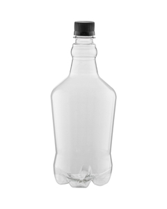 32 oz. Clear Plastic Beer Growler w/ Black Cap, 28mm PCO-1810