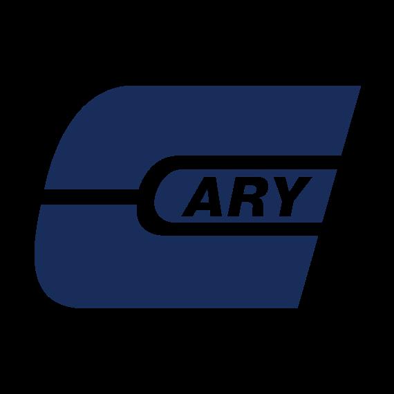 5 oz. Clear PVC  Plastic Hot Sauce Bottle w/Black Ribbed F217 Cap, 24mm 24-414
