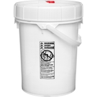 5 Gallon White Plastic Pail w/ Lid & Plastic Handle, Threaded Opening, UN Rated