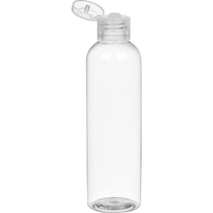 4 oz. Clear PET Bullet Bottle w/ Natural Snap Top Cap, 20mm 20-410