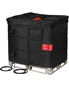 "37.5"", 275 Gallon IBC Tote Heater w/Insulated Lid, Adj. Thermostat, 32° to 194°F, 120V, 2x1550W - InteliHeat®"