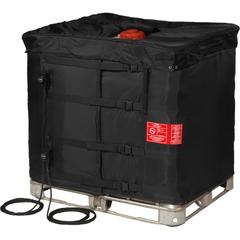 "37.5"", 330 Gallon IBC Tote Heater w/Insulated Lid, Adj. Thermostat, 32° to 194°F, 120V, 2x1550W - InteliHeat®"