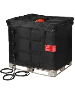 "37.5"", 330 Gallon IBC Tote Heater w/Insulated Lid, Adj. Thermostat, 32° to 194°F, 120V, 3x1300W - InteliHeat®"