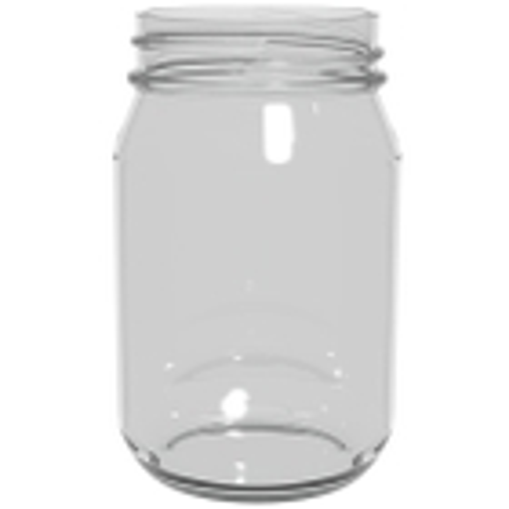 16 oz. Clear Glass Short Mayo Jar, 70mm 70-2030