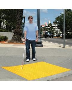 2' x 2' Yellow Retrofit Ultra-ADA Warning Pad