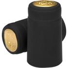Black Matte PVC Heat-Shrink Capsules w/Tear Tab, 100/pk