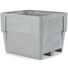 Poly Combo 1117, 315 Gallon Single Wall Bin, 2-Way Base (Gray)