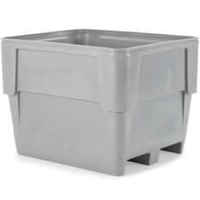 Poly Combo 1115, 336 Gallon Single Wall Bin, 2-Way Base (Gray)