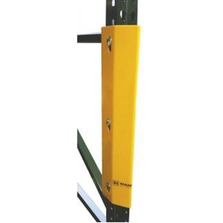 """24""""H Yellow Steel Bolt On Post Protector w/3 Bolt Holes"""
