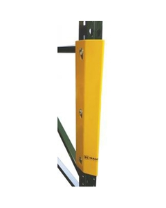 """12""""H Yellow Steel Bolt On Post Protector w/2 Bolt Holes"""
