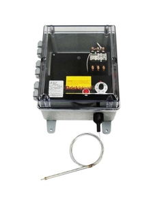 High Capacity Bulb and Capillary Temperature Controller, 50°-300°F, 480v, 1 Contactor