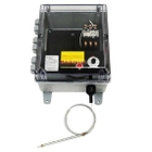 High Capacity Bulb and Capillary Temperature Controller,0°-150°F, 277v, 2 Contactors