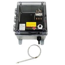 High Capacity Bulb and Capillary Temperature Controller, 0°-150°F, 480v, 2 Contactors