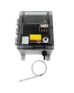 High Capacity Bulb and Capillary Temperature Controller, 0°-150°F, 240v, 2 Contactors
