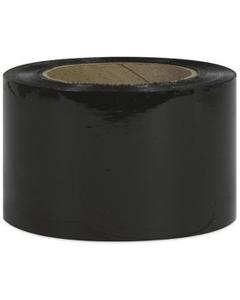 "80 Gauge - 3"" x 1000' Black Cast Bundling Stretch Wrap Film, 18/pk"