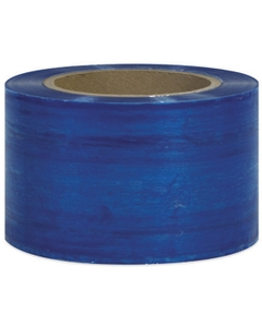 "80 Gauge - 3"" x 1000' Blue Cast Bundling Stretch Wrap Film, 18/pk"