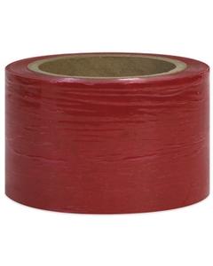 "80 Gauge - 3"" x 1000' Red Cast Bundling Stretch Wrap Film, 18/pk"