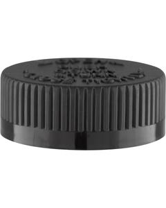 38mm 38-400 Black Child Resistant Cap (PDT) w/PS22 Liner