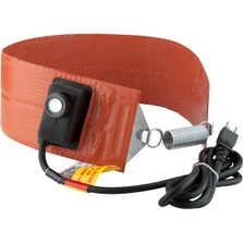 5 Gallon Heavy-Duty Pail Heater Band for Steel Pails, Adj. Thermostat, Up to 425°F, 120v, 550w