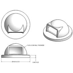 55 Gallon Drum Plastic Dome Top Trash Receptacle Lid