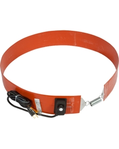 55 Gallon Extra Heavy-Duty Drum Heater Band for Plastic Drums, Adj. Thermostat, Up to 160°F. 120v, 300w (Bare Wire Leads)