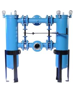 """Size #3 (6"""" Basket Depth) Carbon Steel Duplex Filter Vessel"""