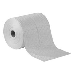 "15"" x 150' Medium-Weight Oil-Only Absorbent Split Rolls, Fine Fiber, White (2 rolls/bag)"