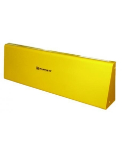 4' Yellow Steel Floor Mount Barrier