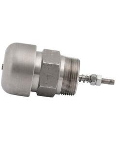 """1-1/4"""" NPT Pressure/Vacuum Relief Vent, Viton O-Ring, Pressure 4.0-7.0 PSI, Vacuum 0.5 PSI, 316 SS, Short Body"""
