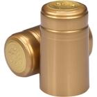 Gold Glossy PVC Capsules w/Tear Tab, 500/pk