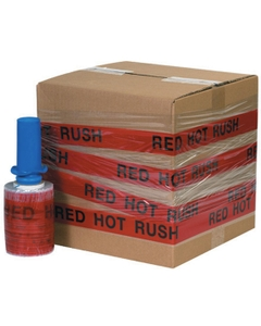 """""""RED HOT RUSH"""" Goodwrappers® Identi-Wrap 80 Gauge - 5"""" x 500', 6/pk"""