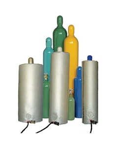"""Gas Cylinder Heater, 48"""" Height, CID1 Hazardous Area, Self-Regulating Temperature, Up to 150° F, 120v, 150w"""