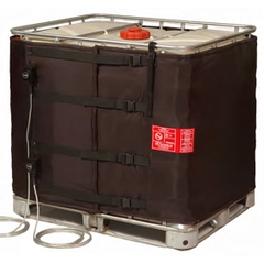"""37.5"""" Height, 275-330 Gallon IBC Tote Heater, Adj. Thermostat, 23°-104°F, 120v, 2x1550w - InteliHeat®"""