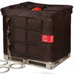 """37.5"""" Height, 275-330 Gallon IBC Tote Heater, Adj. Thermostat, 23°-104°F, 120v, 3x1300w - InteliHeat®"""