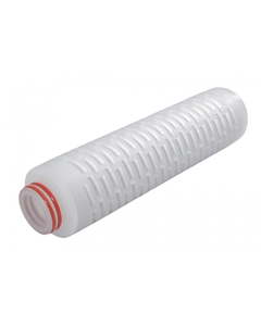"""2.7"""" x 10"""" PES membrane filter cartridge shown (available in 10"""", 20"""", 30"""" and 40"""" lengths)"""