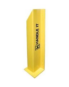 """48"""" Yellow Left Hand Overhead Door Track Guard"""