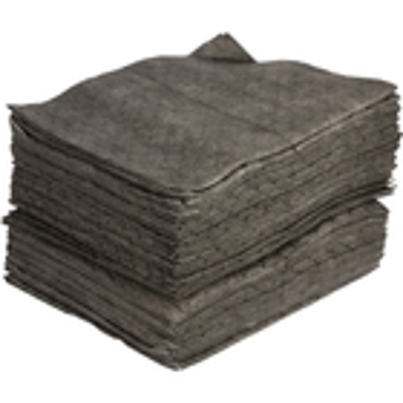 "15"" x 18"" Medium-Weight Univ. Absorbent Pads, Excel, Gray (100 pads/bag)"